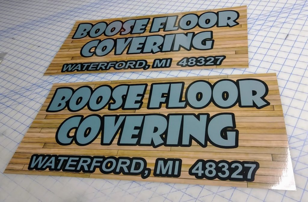 Graphics Depot Custom Truck Decals for Boose Floor Covering
